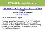 hcs 483 successful learning 11