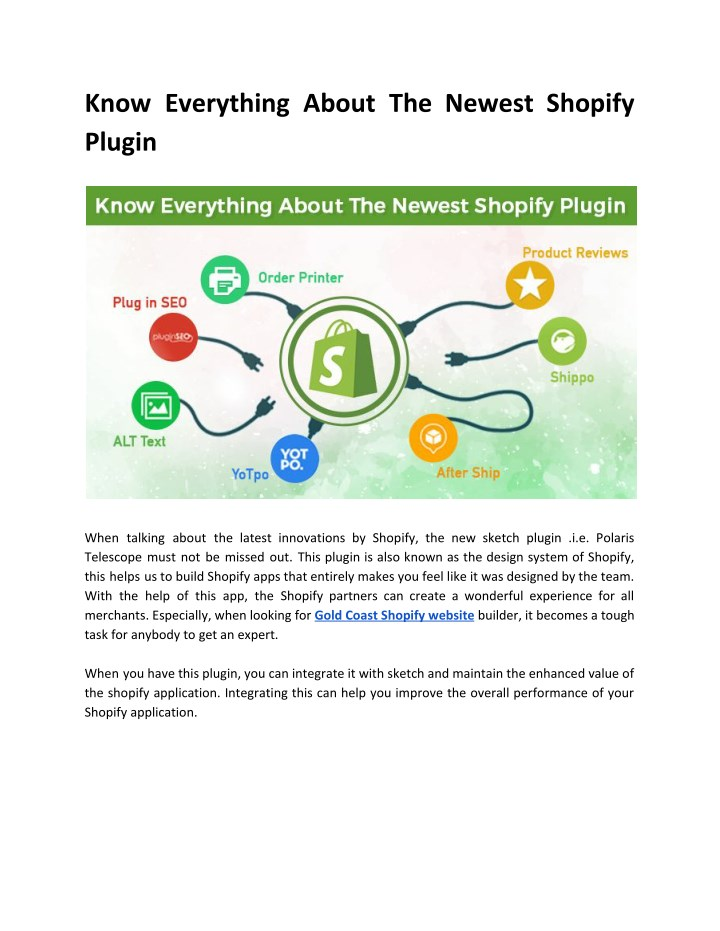 know everything about the newest shopify plugin n.