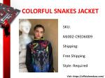 colorful snakes jacket