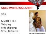 gold whirlpool shirt