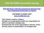hcs 586 rank successful learning 8