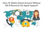 how to delete icloud account without