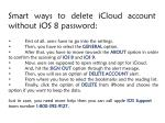 smart ways to delete icloud account without