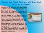 garage door repair tamarac affordable local free