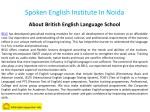 spoken english institute in noida