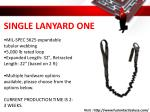 single lanyard one