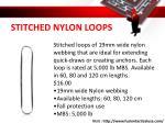 stitched nylon loops