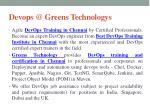 devops @ greens technologys