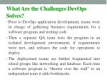 what are the challenges devops solves