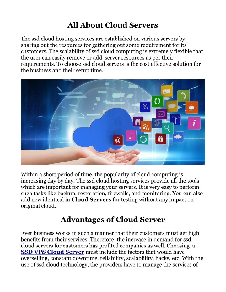 all about cloud servers n.