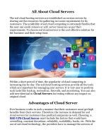 all about cloud servers