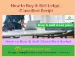 how to buy sell letgo classified script