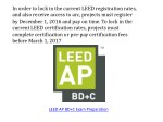 in order to lock in the current leed registration