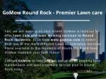gomow round rock premier lawn care
