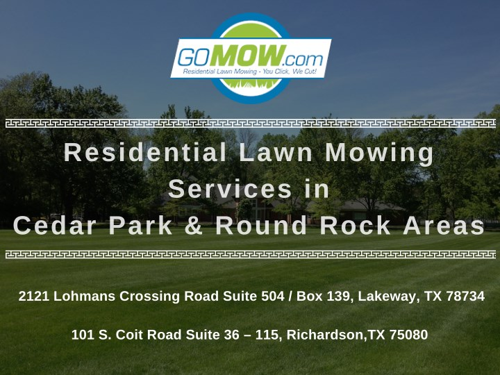 residential lawn mowing services in cedar park n.