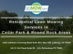 residential lawn mowing services in cedar park