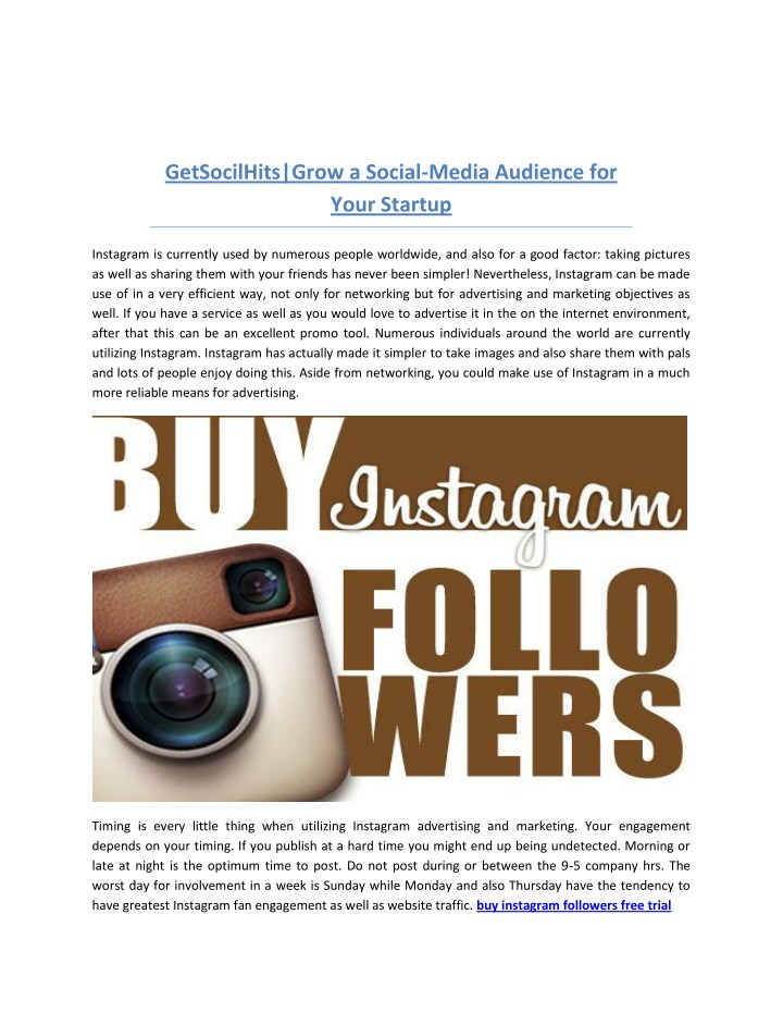 getsocilhits grow a social media audience n.