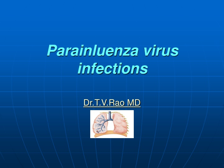 parainluenza virus infections dr t v rao md n.