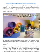kinderena for making kids comfortable at your