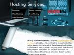 sharing files on the network here the web hosting