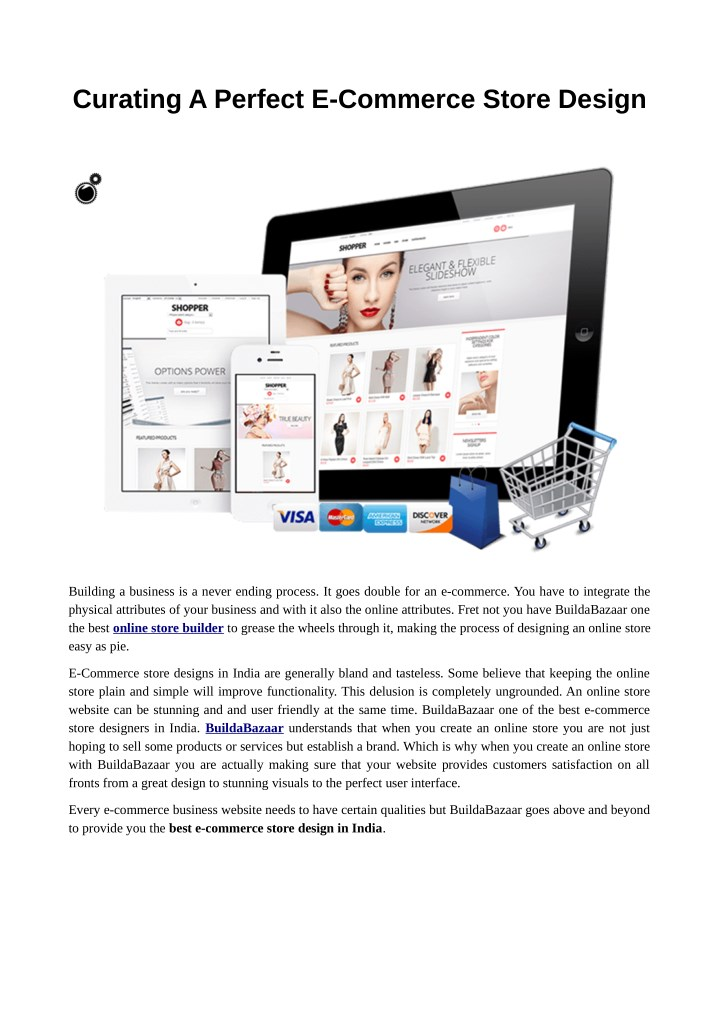 curating a perfect e commerce store design n.