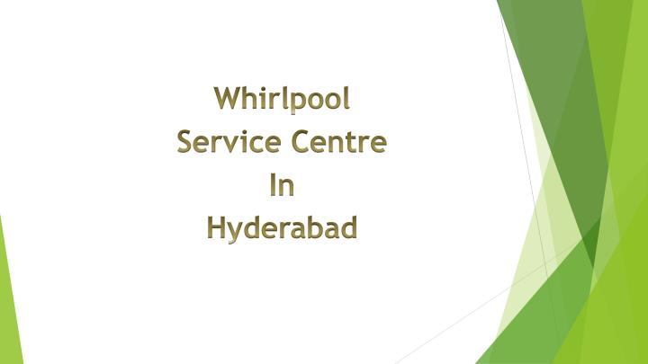 whirlpool service centre in hyderabad n.