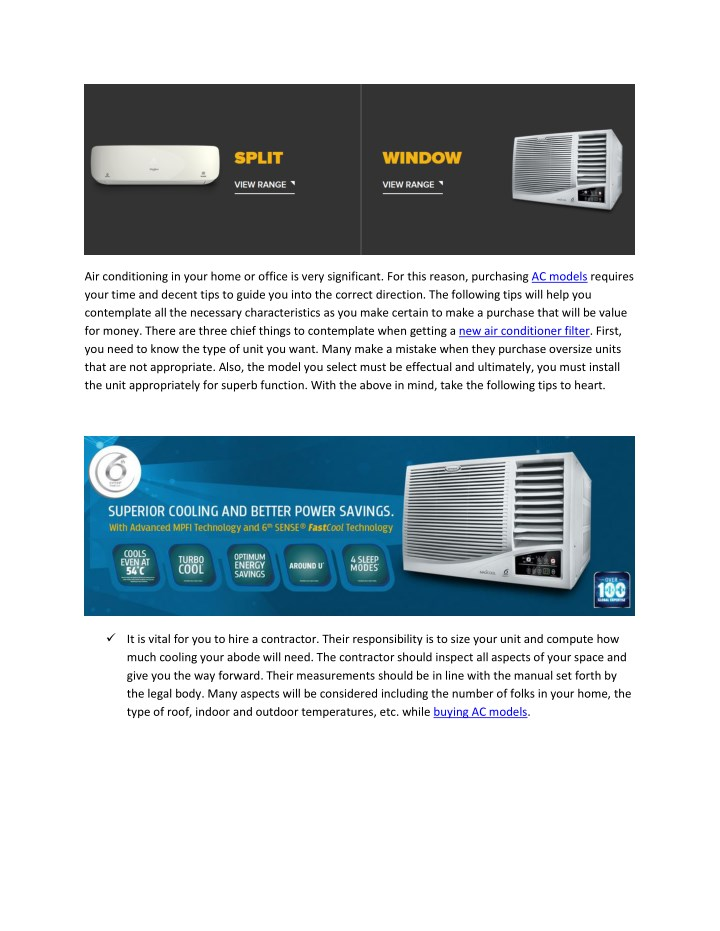 air conditioning in your home or office is very n.