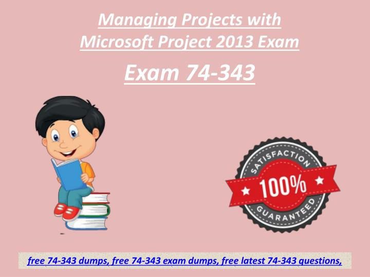 managing projects with microsoft project 2013 exam n.