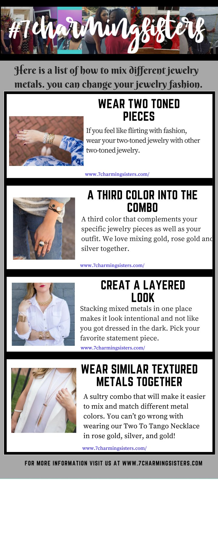 here is a list of how to mix different jewelry n.