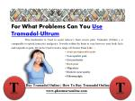 for what problems can you use tramadol ultrum