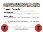 types of tramadol