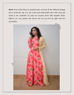 kurti from a line kurti to anarkali style we have