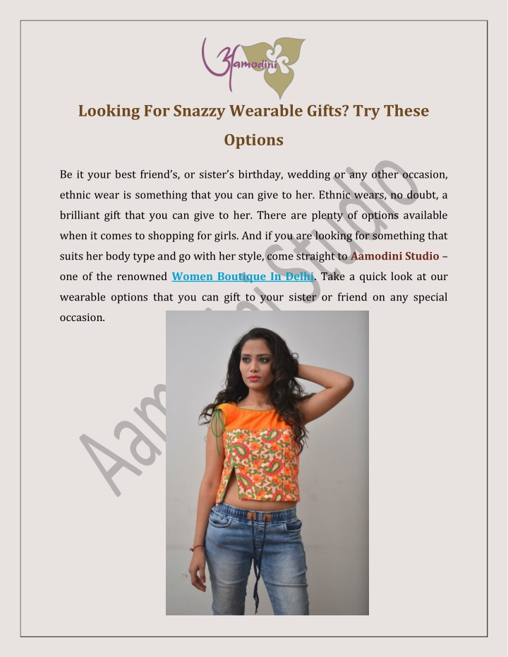 looking for snazzy wearable gifts try these n.