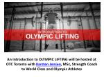 an introduction to olympic lifting will be hosted