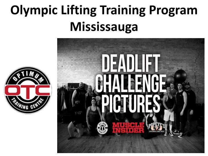 olympic lifting training program mississauga n.
