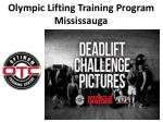 olympic lifting training program mississauga