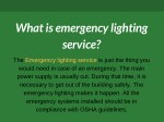 what is emergency lighting service
