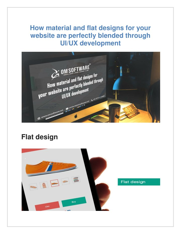 how material and flat designs for your website n.