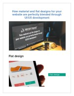 how material and flat designs for your website