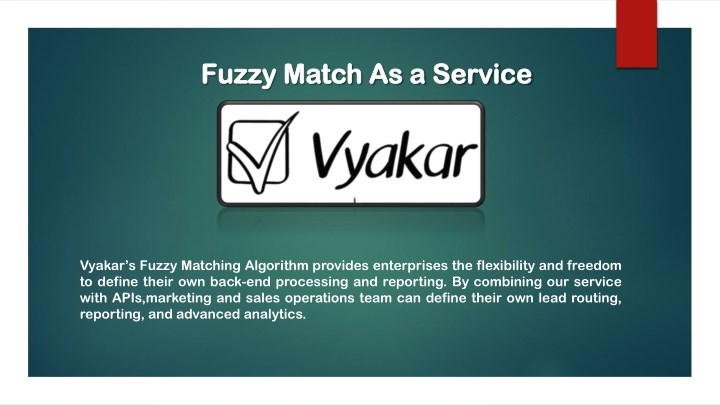 fuzzy match as a service fuzzy match as a service n.