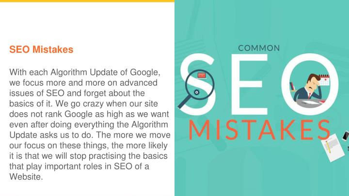 seo mistakes with each algorithm update of google n.