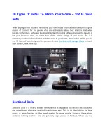 10 types of sofas to match your home 2nd is divan