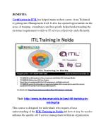 benefits certification in itil has helped many
