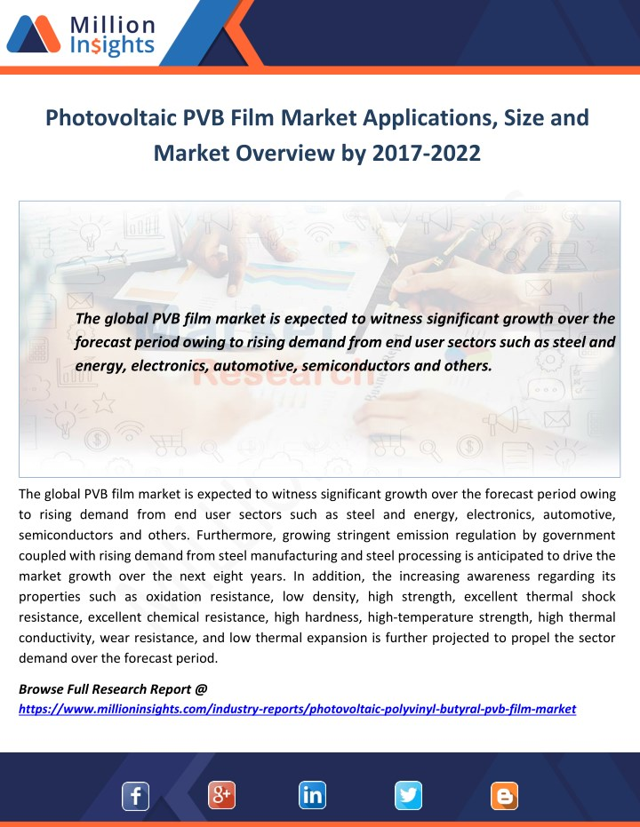 photovoltaic pvb film market applications size n.