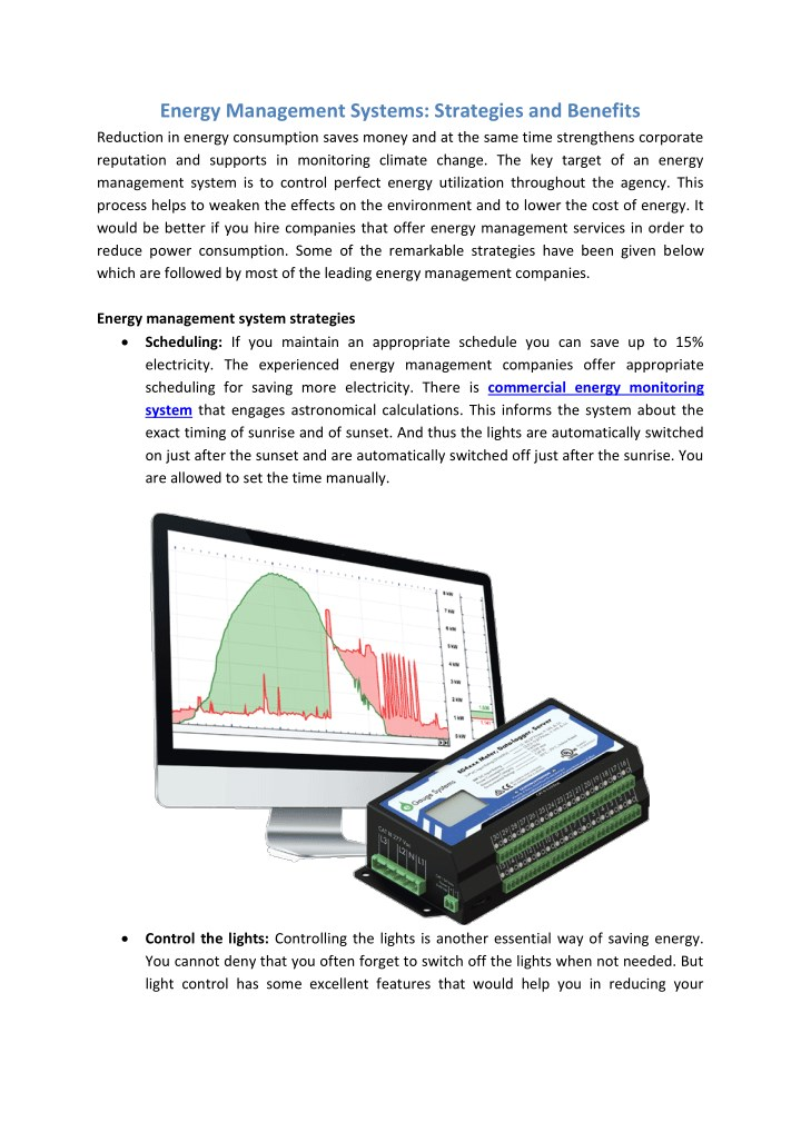 energy management systems strategies and benefits n.