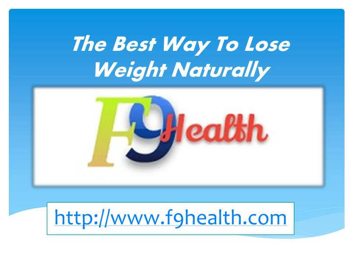 the best way to lose weight naturally n.