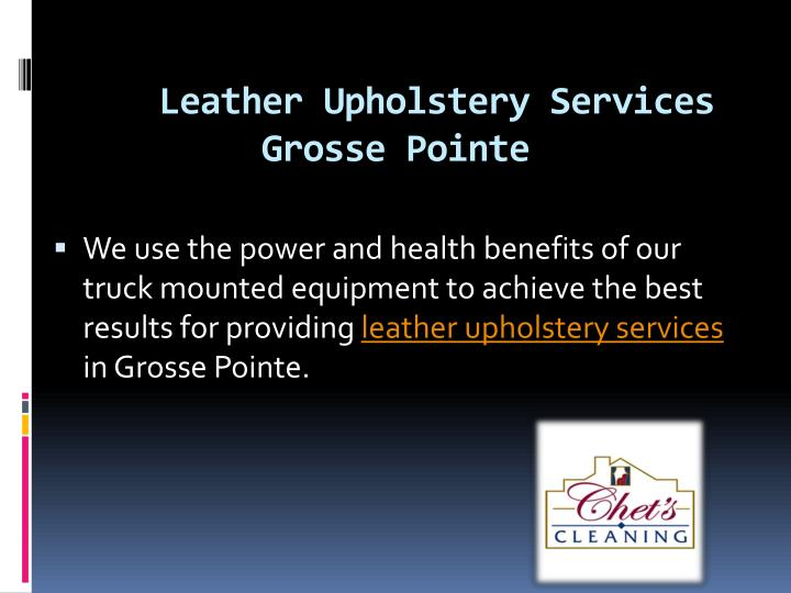 leather upholstery services grosse pointe n.
