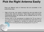 pick the right antenna easily
