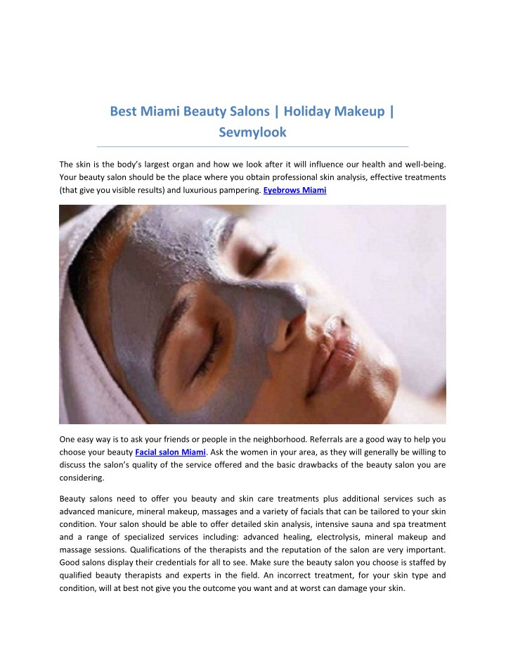best miami beauty salons holiday makeup sevmylook n.