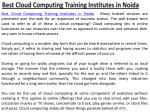best cloud computing training institutes in noida